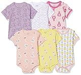 Care Baby - Mädchen Kurzarm-Body 3er und 6er Pack Gelb (Light Yellow 340), Herstellergröße: 68