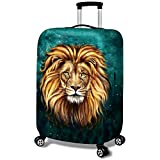 MISSMAO_FASHION2019 Protecteur Trolley Motif Lion et Léopard Housse de Protection...