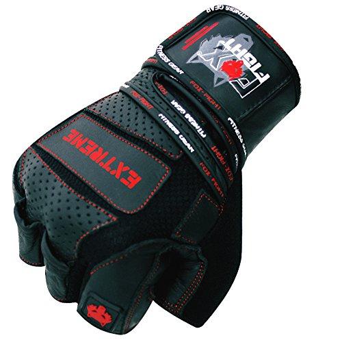 EXTREME Fitness Kraftsport Trainings Handschuhe Kraftsporthandschuhe Bodybuilding FOX-FIGHT - 5