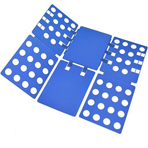BoxLegend Doblador de Ropa - Tabla para Doblar la Ropa - Placa Ayuda para Plegar la Ropa 57 * 70 cm Camisetas Tablero para Plegar Camisas Azúl