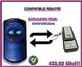 Novoferm Garagentor Fernbedienung Handsender Geeignet für Novotron 202MB, Kompatibel Ersatz sender (Fixed code) 433.92mhz