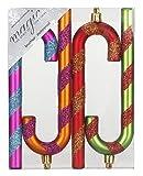 Kunststoff Zuckerstange 14cm 4-Stück Set Mille-Fiori // Christbaumschmuck Weihnachtskugeln Weihnachtsschmuck Weichnachten Deko mini klein Christbaum Tannenbaum Weihnachtsbaum bunt mix