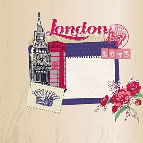 Love London: Travel Journal Scrapbook: Full Color with Photo Pages and Color Artwork