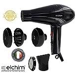 Phon Asciugacapelli PROFESSIONALE ELCHIM 2001 HP NERO con BiDiffusore Cocoon