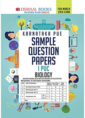 Oswaal Karnataka PUE Sample Question Papers For PUC I Biology (March 2019 Exam)