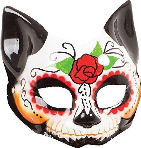 Kostüm Zubehör Maskerade Kitty Halb Maske g / F) (Tag Der Toten Maskerade Maske)