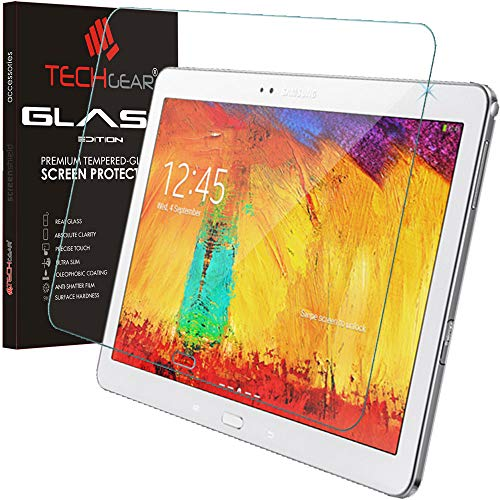 TECHGEAR ' Protector de Pantalla para Samsung Galaxy Note 10.1 2014 Edition (SM P600/SM P605) Glass Edition Genuine Tempered Glass Screen Protector Guard Cover