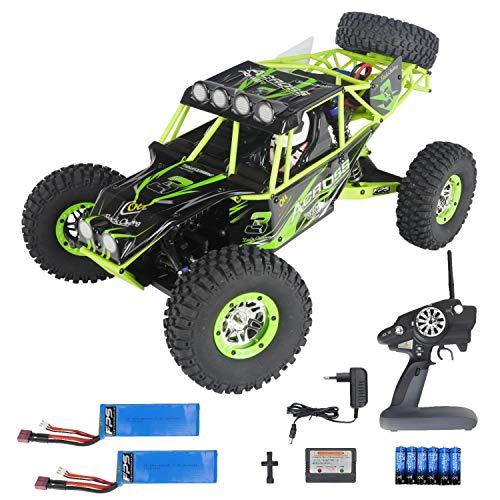 FPS RTR Bundle: Rayline PRO V10, RC XXL Rock Crawler Monstertruck Truggy, 2 Gang - max. Kraft o. bis 30 km/h, 4WD, 1:10, 47cm, Metalldifferential, 2.4G Fernbedienung LCD, inkl. 2X Akku, 6X AA Lcd 47