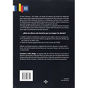 Temario. Oposición Escala Básica. Policía Nacional. Preguntas Tipo Test - Volumen 3 (Derecho - Práctica Jurídica)