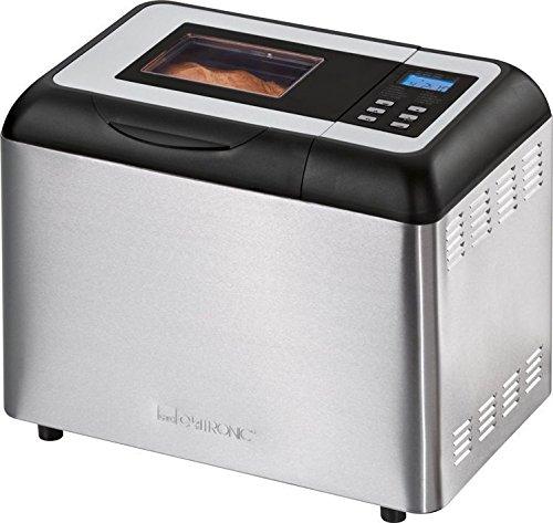 Elektrischer Edelstahl Brotbackautomat mit LCD-Display für ca. 1000 g Brot Brotautomat Brot Backautomat (Sparsame 700 Watt, Vollautomatische Brotzubereitung, Kneten, Aufgehen, Backen)
