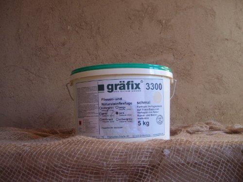 Gräfix 3300 grau Fliesen- und Natursteinflexfuge auf Trassbasis a 5 kg