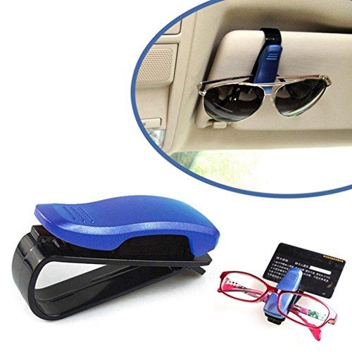 quaant KFZ Brillenhalterung Clip, 2018New Arrival Auto Sun Visor Brille Sonnenbrille Ticket Beleg Karte Clip Speicher Halter KFZ Brillenhalterung Fall blau