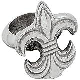 Elegante Fleur de Lis anillos para servilletas juego de 4