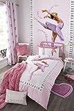 Catherine Lansfield biancheria per camera da letto, motivo con ballerina, rosa, Pink, Singolo