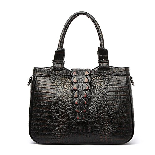 Dame Handbag Crocodile Muster Leder Handtasche Elegant Fashion Klassische Handtasche B