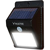 Frostfire Bright LED Wireless Solar Powered Motion Sensor Light