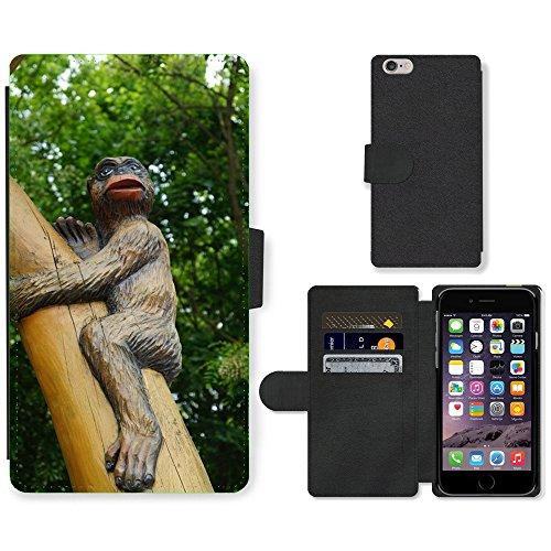 Just Mobile pour Hot Style Téléphone portable étui portefeuille en cuir PU avec fente pour carte//m00140181Singe Arbre Jungle Zoo//Apple iPhone 6Plus 14cm