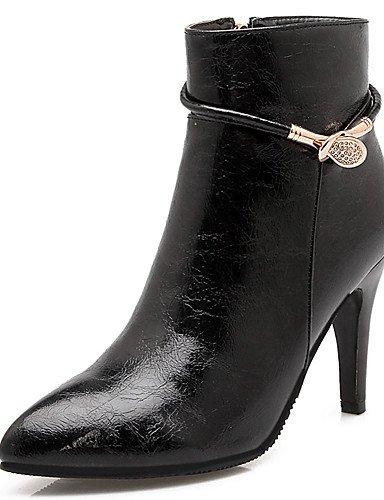GGX timu Tagebuch Damen Stiefel Frühjahr/Herbst/Winter Heels/Fashion Stiefel/spitz Toe Party & Abend/Kleid/Casual Stiletto-Absatz Schnalle, beige-us7.5 / eu38 / uk5.5 / cn38 (Heel Stiefel Knie Schnalle Stiletto)