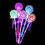 Lanlan Party Decor LED Light Up Lollipop Glow Stick Mädchen Zauberstab, blinkend Kinder Spielzeug