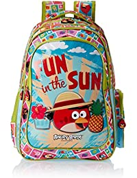 Angry Birds Polyester 30.5 cms Green Children's Backpack (EI - AB0077)