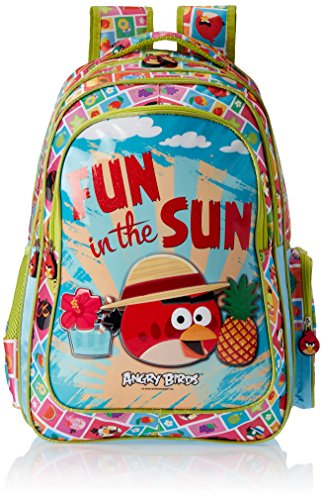 Angry Birds Polyester 30.5 cms Green Children's Backpack (EI – AB0077)