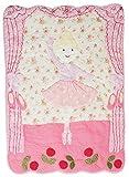 Luxus - Patchworkdecke 80 cm * 105 cm - Baumwolle - Ballerina Tänzerin Prinzessin - für Kinder / Baby / Mädchen - Decke Kuscheldecke Kinder Plaid Kinderdecke - Tagesdecke Quilt / Patchwork Krabbeldecke Blumen