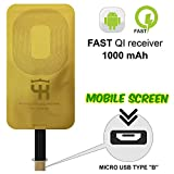 #9: Jedx Universal Qi Wireless Narrow-interface Down Type B Charging Receiver Film for Micro USB of All Android Mobile