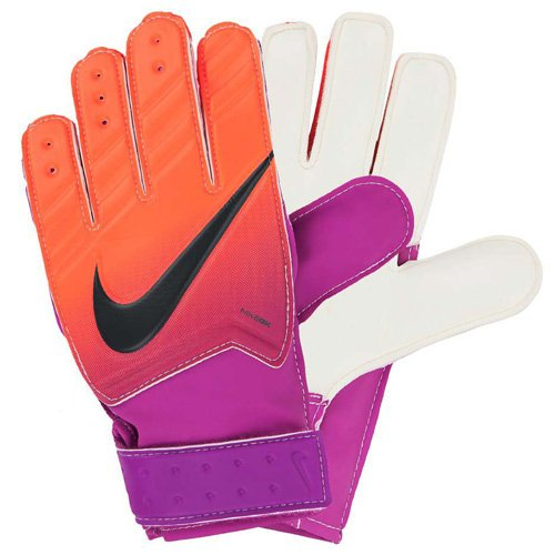 Nike GK JR MATCH FA16 - Guanti per bambini, Bambino, Gk Jr Match Fa16, Naranja (Total Crimson / Hyper Grape / Obsidian), 5