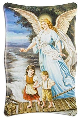 Engel - Bild Schutzengel / Brücke zum hängen 11 x 7 cm