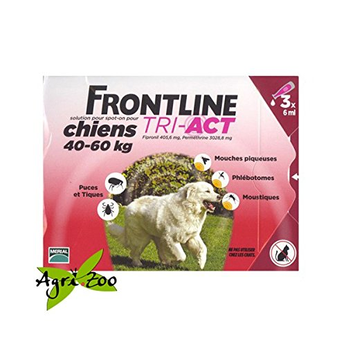 Frontline tri act spot on per cani extra large da 40 a 60 kilogramm