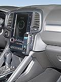KUDA Console de téléphone (LHD) pour Renault Koleos à partir de 06/2017en cuir synthétique Noir