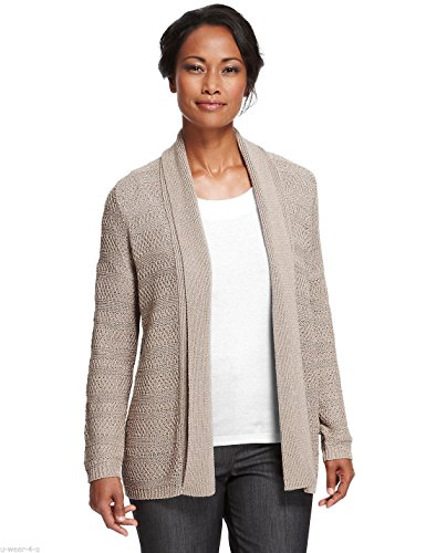 marks-and-spencers-ladies-stone-sparkle-open-front-cardigan-8-24-ms-chunky-knit-12