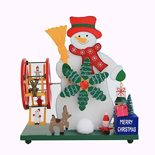 MMTC Weihnachten Old Man Riesenrad Windmühle Spieluhr Dekoration Geschenk Kind Desktop-Dekoration,2