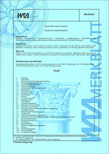 Kalkputze in der Denkmalpflege.: WTA Merkblatt 2-7-01/D. Deutsche Fassung. Stand September 2002. Referat 2 Oberflächentechnologie.