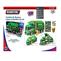 Teamsterz 1416391 Light and Sound Garbage Truck Toy, 3-10 Years