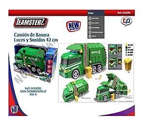 Teamsterz 1416391 Camión de Basura con Luz y Sonidos, 42 cm