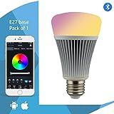 Mi-Light Led Bulb Smart Light 8W Bluetooth Led Bulb Rgb+Cct E27 ,(E27 Base, Pack Of 1)