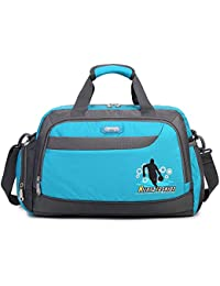 Soradoo Club Team Sport Duffel Bag Gym Workout Handbag Travel with Removable Adjustable Shoulder Strap 20L