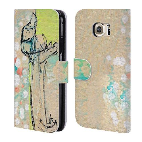 Ufficiale Wyanne Bassotto Animali Cover a portafoglio in pelle per Samsung Galaxy S6