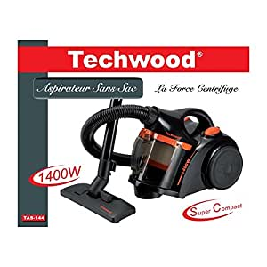 Techwood Aspirateur sans sac 1400W Noir-Orange Techwood - Ref. TAS-144