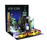 PopUP 3D New York PopShot StädteKarte Geburtstag Grußkarte Tourist Highlights 13x13cm