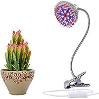 Aokey LED 15W Lámpara de Plantas con Cuello de Cisne Flexible de 360 ° para Oficina, Hogar, Jardinería, Jardín e Invernadero