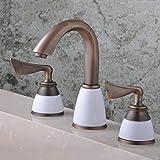 ZXYlavabo robinets robinet trois pièce european rétro bath mur tap plomberie mélangé robinet accessoires
