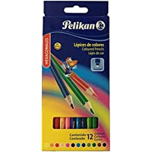 Pelikan 10012213 - Estuche con 12 lápices de colores, cuerpo hexagonal