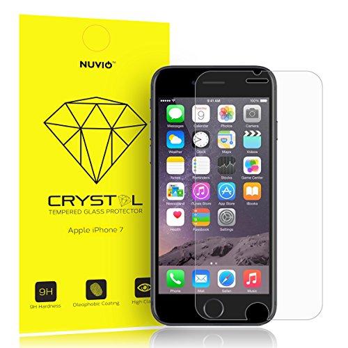 Apple iPhone 7Protezione per Schermo, nuvio Crystal Proteggi Schermo in Vetro Temperato per Apple Iphone 7anti Shatter [garanzia a vita] spedizione gratuita