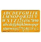 Italiques Lettrage Modèle Alphabet Symboles Pochoir Rédaction Et À La Lettre De Dessin Technique Taille 20 Mm Template