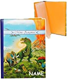 Unbekannt Dinosaurier  - Zeugnismappe Gr. A 4 / Dokumentenmappe - incl. Name -  Meine Zeugnisse  - GEBUNDEN mit festen Seiten - Softcover - für Kinder und Erwachse..
