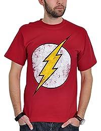 T-shirt Flash logo Distressed sur le thème de la série rouge
