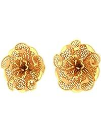 Jewel Tale 22KT Yellow Gold Stud Earrings for Women