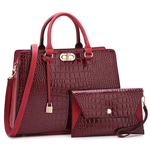 Maya Karis Purse MKP Collection Lady Aktentasche W/Geldbörse,/für Frau. Urlaub Geschenk Top Griff Handtasche für alle Jahreszeit (106900W) 7581 Wine -